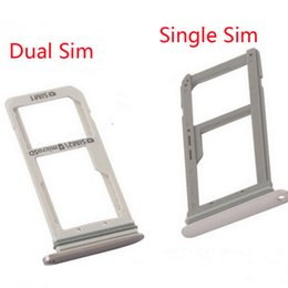 Wholesale Dual Sim Memory Card - Wholesale S7 edge Single Or Dual SIM Card Memory Tray Holder Parts For Samsung Galaxy S7 S7 Edge Three Colors Free DHL Shipping