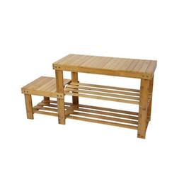 Wholesale Modern Kids Bedroom Furniture - Bamboo Shoe Rack Bench Stool Storage Display Rack Seat Kid Adult Shoes Boots
