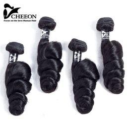 Wholesale Loose Wave 1b - Peruvian Virgin Hair Bundles 4Pcs lot 100g pcs 8A Unprocessed Human Hair Weaves Peruvian Loose Wave Virgin Hair Wefts Natural Black 1b