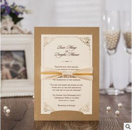 Wholesale Brown Wedding Invitation Cards - wedding invitation card hollow customized party supply invitation business party invitation card wholesale