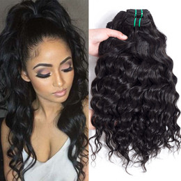 Wholesale Peruvian Big Waves Extensions - Daily Deals Most Popular Wholesale Hair Extensions Water wave Human Hair Weave Bundles Brazilian Peruvian Big Curly Virgin Hair Bundle Deals