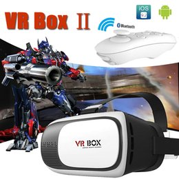 Wholesale Smartphone Retail Box - VR Box 2.0 + Gamepad Virtual Reality 3D Glasses Helmet VR BOX Headset For Smartphone 3.5 inch ~ 6 inch iPhone Samsung with Retail Package