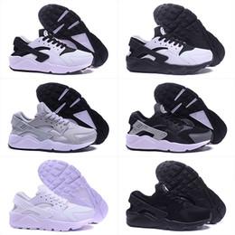 Wholesale Shoes Online - 2017 Air Huarache Classical Triple White Black gold men women Huarache Shoes Huaraches sporst Sneakers Running Shoes 36-45 cheap online sale