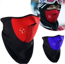 Wholesale Half Balaclava - Free shipping!New recommend neoprene neck warm Balaclava half face mask men designer light outdoors riding windscreen ski mask wholesale