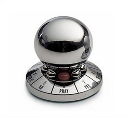 Wholesale fate game - 2017 NEW Decision Maker Fate Prediction Lucky Metal Ball Paperweight Novelty Toy For Fun Games Model Antistress Toys
