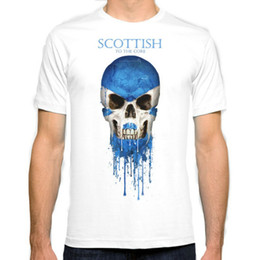 Wholesale Fashion Scotland - Scotland flag New Fashion Man T-Shirt Cotton O Neck Mens Short Sleeve Mens tshirt Male Tops Tees Wholesale