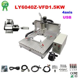 Wholesale Cnc Milling Machine Spindle - CNC Router LY6040Z-VFD1.5KW USB 4axis CNC drilling and milling Machine with water cooling spindle