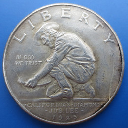 Wholesale Commemorative Half Dollar - American Coins 1925 California Jubilee Commemorative Half Dollars Copy Coins High Quality old style Copy coin Free shipping