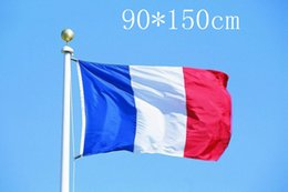 Wholesale France Flag Polyester - The New Great 90*150cm 3*5ft France National Flag Polyster N.4 Banners Three Colors French Oriflamme Top Quality 5qt R