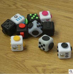 Wholesale First Movies - 2017 Fidget toy the world's first American decompression anxiety Toys Upgraded Camouflage fidget cube 4.3cm best quality