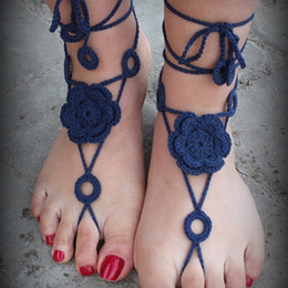 Wholesale heel jewelry - Hand Crochet Barefoot Sandals, Nude shoes, Foot Jewelry, Wedding, Victorian Lace, Sexy, Anklet , Bellydance,Beach Footwear