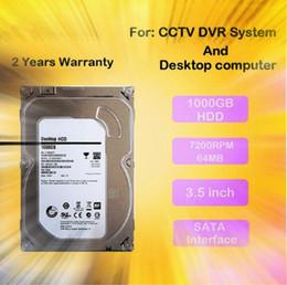Wholesale Hard Drive For Dvr - LLLOFAM Internal 1000GB 3.5 inch SATA Hard Drive 1TB 3.5'' Hard Disk 64MB 7200rpm for DVR NVR recorder cctv system