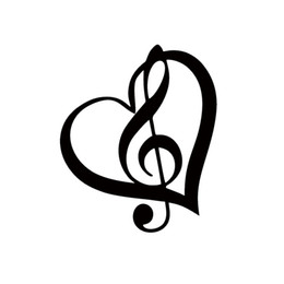 Wholesale Music Vinyl Wall Sticker - Cool Graphics Treble Clef Heart Vinyl Decal Sticker Car Window Wall Bumper Music Symbol Guitar Jdm