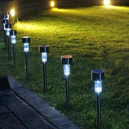 Wholesale Outdoor Corridor - Lawn lamp Solar Lights LED Corridor Tubular Lamp Lawn Light Outdoor Waterproof Colorful Lighting Plastic Garden Festival Decorations DHL