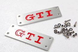 Wholesale Beetle Emblem - Aluminum 3D GTI Logo Floor Mat Carpet Badge Emblem For Volkswagen VW CC Golf Jetta Bora Polo Passat Tiguan Beetle
