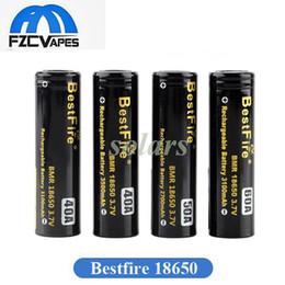 Batería bestfire online-Auténtico Bestfire BMR 18650 batería de la serie 40A 3100 mAh 3500 mAh 50A 2700 mAh 60A 3100 mAh alta descarga de drenaje de la batería de litio 100% Original