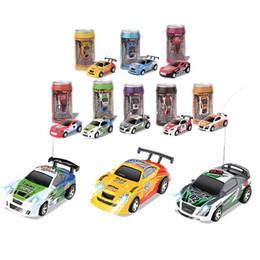 Wholesale Wholesale Mini Micro Remote Control - Radio Control Vehicles Micro Racing Car Coke Can Mini Speed RC Radio Remote Control Micro Racing Cars