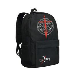 Wholesale Saber Fate Zero - Fate Zero Backpack Saber School Bag for Students Oxford Shoulder Bag Men Laptop Backpacks Fate Zero Mochila Teenagers