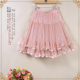 Wholesale Straight Skirts Knee Length - Pleated Skirts for Women 2016 Summer Lace Yarn Skirt Dress Skirts for Pleated Skirt Body Women