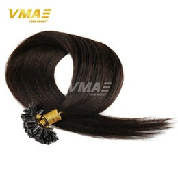 Wholesale 22 Inch Fusion Hair - Keratin Fusion Hair Extensions Brazilian Virgin Human Straight Remy Human Hair Pre-bonded Hair Extensions 14-26 Inches