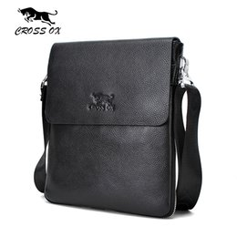 Wholesale Ox Bag - Wholesale- CROSS OX 2016 Summer New Arrival Genuine Leather Men's Messenger Bag Shoulder Bags For Men iPad Bag Casual Cross Body Bag SL365M