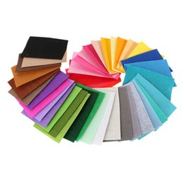 Wholesale Yarn Dyed Fabrics - 40 pcs Pack DIY Polyester Felt Fabric Cloth Thickness Handmade Sewing Home Decor