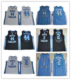 Wholesale Berry Men - high quality #44 Justin Jackson #2 Joel Berry II Jersey North Carolina Tar Heels cheap retro throwback Basketball Jerseys