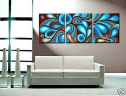 Wholesale Abstract Oil Painting 3pc - Framed 100 3PC WALL DECOR OIL oil PAINTING PURE HAND PAINTED ON HIGH QUALITY CANVAS art Oil Painting Multi sizes