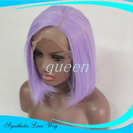 Wholesale Short Real Hair Wigs Women - Heat Resistant Synthetic Cosplay Wig Natural Short Brown Purple Bob Natural As Real Hair Wig Synthetic Female Women Sexy Pelucas