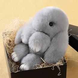 Wholesale Dead Dolls - 15cm Soft Cute Simulation Rabbit Animal Fur Doll Plush Toy Stuffed Toys Kids Birthday Gift Doll Keychain Play Dead Rabbit L1382