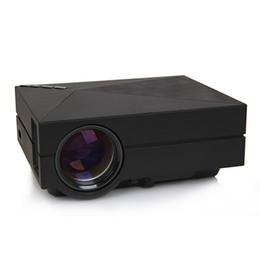Mini spina hdmi online-All'ingrosso- 2016 La più recente GM60 Mini proiettore multimediale a LED per videogiochi TV Home Theater Cinema Supporto HDMI VGA AV SD UK Plug 161699