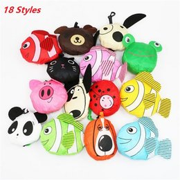 Wholesale fashion dog bags - Hot sale 18 styles New Cute Useful Animal Bee Panda Pig Dog Rabbit Foldable Eco Reusable bag Shopping Bags A0136