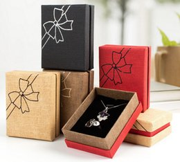 Wholesale Wholesale Earrings Boxes - New Wholesale Jewelry Packing Box Fashion Accessory Necklace Bracelet Earring Butterfly Box Gift Box