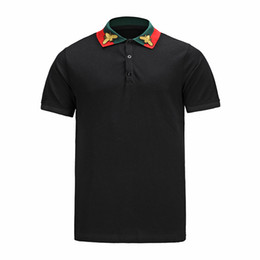 Wholesale Polo Tee Design - italy polo shirt design for men luxury brand embroidery bee fashion short sleeve men's tee polos with bag