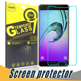 Wholesale S4 Tempered Glass Screen Protector - Anti-shatter 9H 2.5D Tempered Glass Screen Protector Film With Paper Retail For Samsung S6 Edge S5 mini S3 S4 C5000 C7000 S7582