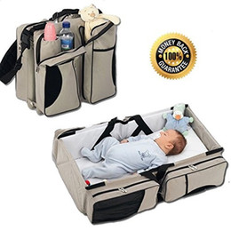 Wholesale Diaper Adults Wholesale - Newborn baby bean bag baby Portable Travelling Bag Type Baby Bed Baby Diaper Tote Bag Bed Adult Single Shoulder Bag