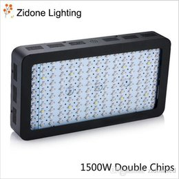 Wholesale Very Chip - 1500W Black Double Chips LED Grow Light Full Spectrum 410-730nm For Indoor Plants and Flower Phrase Very High Yield