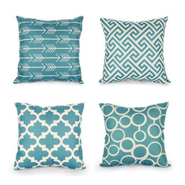 Wholesale blue sofa cushion - high quality Top Nordic Decorative fashion Cushion Covers Cotton Linen Throw Pillow Cover for Sofa Decor Scandinavian Style Pilow Cases