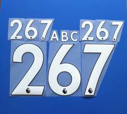 Wholesale Custom Fonts - 2017-2018 English Premier League Customize Name A-Z Number 0-9 Print FONT Custom soccer Nameset BPL soccer Player nameset Free shipping!