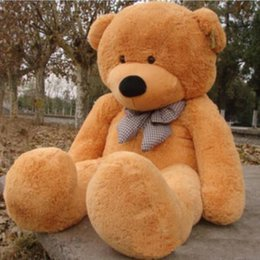 Wholesale Huge Giant Teddy Bears - 2017 Arriving Giant 200CM 78''inch TEDDY BEAR PLUSH HUGE SOFT TOY Plush Toys Valentine's Day gift 4 colours brown