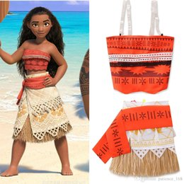 Wholesale Cartoon Mascot Girl - Girl Moana Princess New Children Cartoon moana mascot cosplay clothing Mother and daughter dress suit free ship