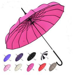 Прямой ручка для дождя онлайн-Пагода зонтик долго обрабатываются прямые пагоды зонтики ретро свежий стрелять фон Bumbershoot пик изобретательность солнце дождь зонтик TOP1925