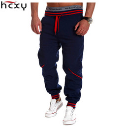 Wholesale Men Clothing Foreign - Wholesale-2016 HCXY brand clothing foreign trade casual mens European and American style stretch casual men harem pants stitching trousers