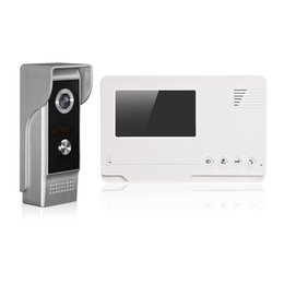 Wholesale One Digital Monitor - 4.3 Inch Digital Color Touch Screen Video doorphone Auto Video Recoder With Indoor Monitors And One Outdoor Camera
