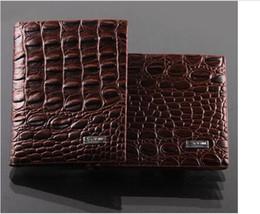 Wholesale Crocodile Alligator Clips - Fashion mens leather luxury wallet crocodile grain casual short design card holder money purse clips wallets for men high quality