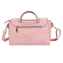 Wholesale Ladies Office Totes - Ladies Nubuck Leather Handbag Pink Small Shoulder Bag Spring Winter Women Messenger Bag Women Party Office Tote
