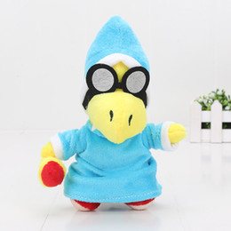 "Wholesale Super Mario Plush Toy Kamek - 7"" 18cm Super Mario Bros Plush Doll Soft Toy Gift- Kamek Magikoopa Soft Toy Stuffed Animal"
