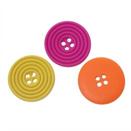 Wholesale Colorful Sewing Buttons - Kimter Round Circle Buttons With 2 Holes Buttons 20mm Mixed Random Lovely Colorful Button For Classical Sewing Crafting Pack Of 100pcs I317L