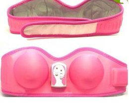 Wholesale Pussy Size - Hot Machine Cup Enlarger Women Breast Enhancer Vibrating Massager Bra Breast Enlargement with pussy toy and Dong