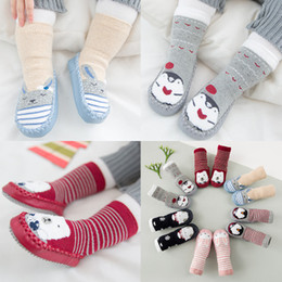 Wholesale Girls Thick Warm Socks - New Cartoon Anima Socks Baby Boy Girl Cute Thick Cotton Autumn Winter Warm Socks 6 style 3 size choose 20pairs lot 0-3T A7563
